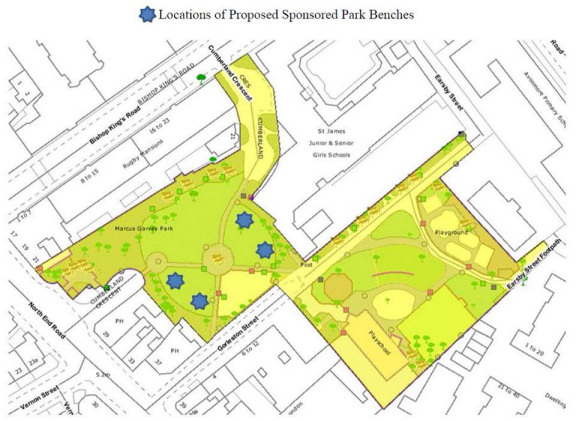Proposed  Park Benches